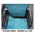 罕有的窄座寬﹑大後輪設計,適合體型較少的人士使用