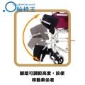 靠背可摺疊,方便將輪椅放入車尾箱