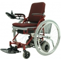 the powered wheelchair with the big wheel on
