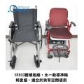 體積超細,比一般標準輪椅更細,論合於狹窄空間使用